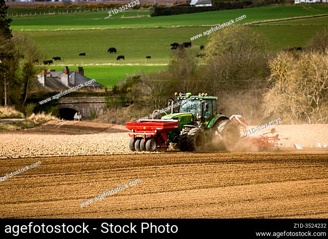 Spring planting . SCotland. Agricultural implements