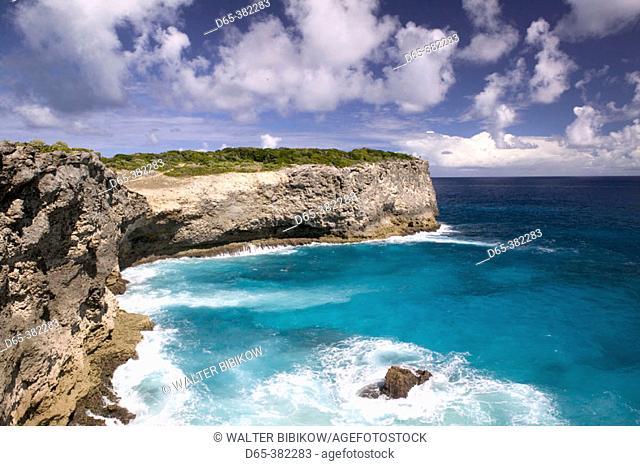French West Indies (FWI), Guadeloupe, Grande Terre Island, La Porte d'Enfer: Coastal Views of Northern Grande-Terre from La Grande Falaise Walkway