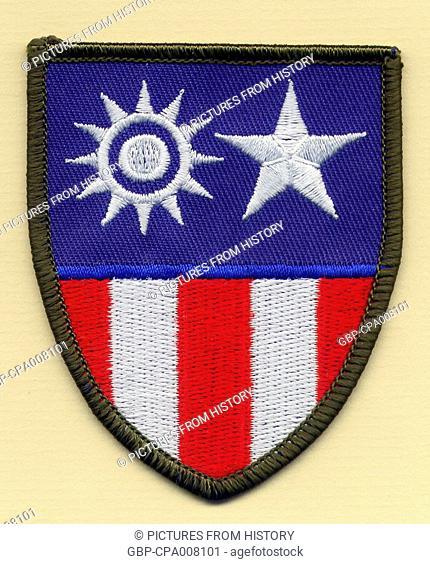 China / Burma / India: The CBI Theater of World War II insignia as a badge or shoulder flash