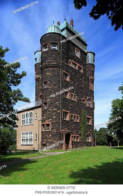 Bridge tower of the Friedrich Ebert Bridge between Duisburg-Ruhrort and Duisburg-Homberg, Duisburg city, Rhine, Lower Rhine, Ruhr area, North Rhine-Westphalia