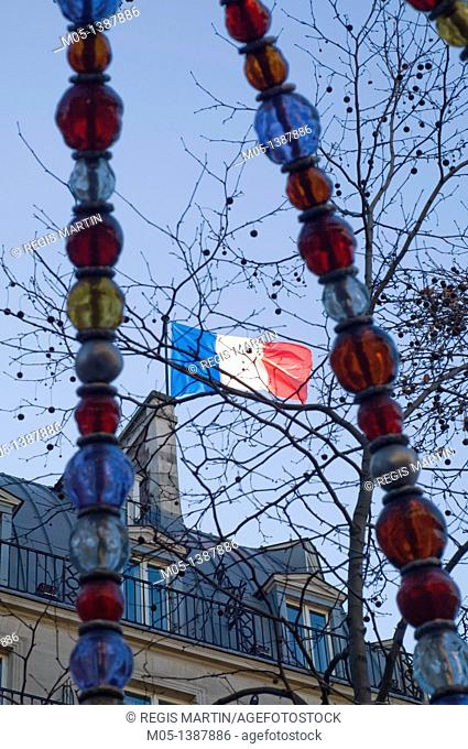 French flag in Paris, France