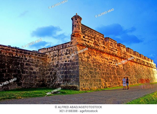 sunset in defense wall, Cartagena de Indias, Colombia
