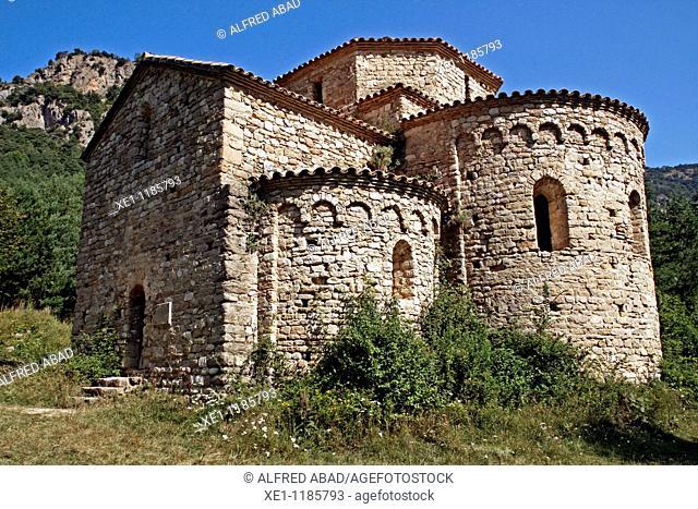 St Pere de Graudescales, Romanesque s. X, Solsones, Catalonia, Spain