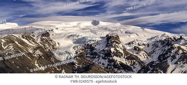 Oraefajokull glacier, Vatnajokull Ice Cap, Iceland