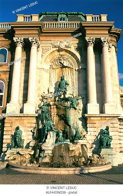 Hungary - Buda - Royal Castle - King Mathias Fountain