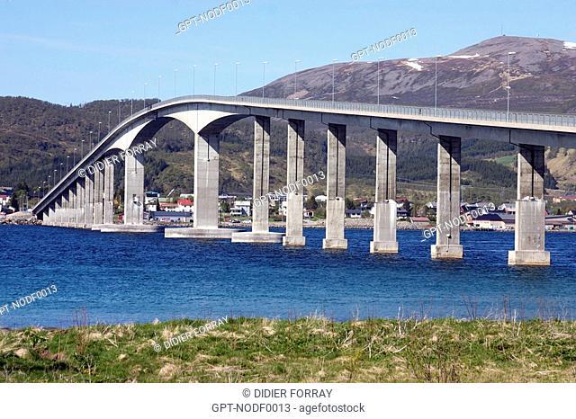 SORTLAND BRIDGE, LANGOYA ISLAND, VESTERALEN ARCHIPELAGO, NORWAY