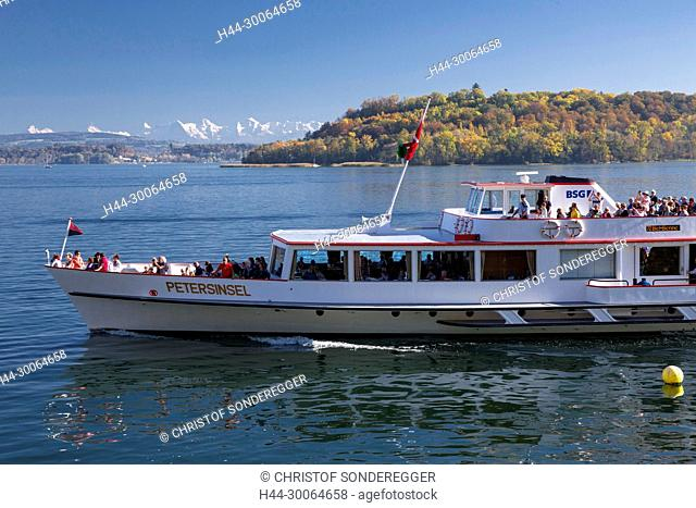 Schiff Petersinsel bei Ligerz am Bielersee