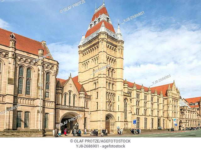 The Old Quadrangle Building of the University of Manchester, England, UK