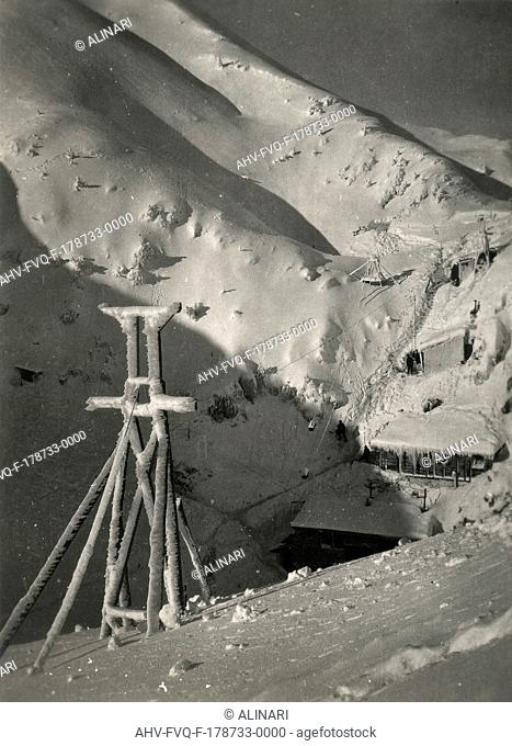 First World War: Cableway installations on Mount Krasji, shot 12/1917