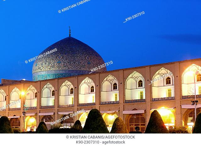 Dome of the Sheikh Lotfollah Mosque (Masjed-e Sheikh Lotfollah), Esfahan, Iran, Asian
