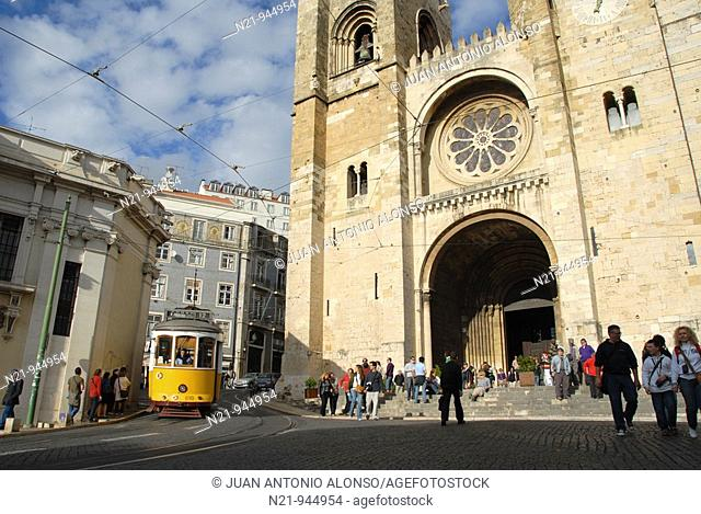 Se Patriarcal -Lisbon Cathedral- built in the 12th century  Alfama, Lisbon, Portugal
