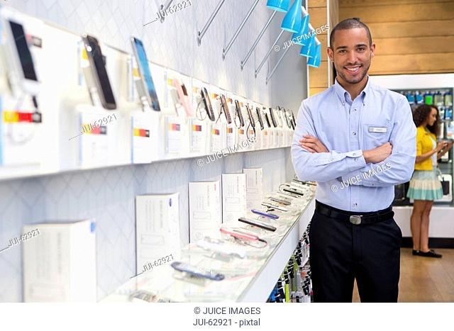 Store manager in phone shop