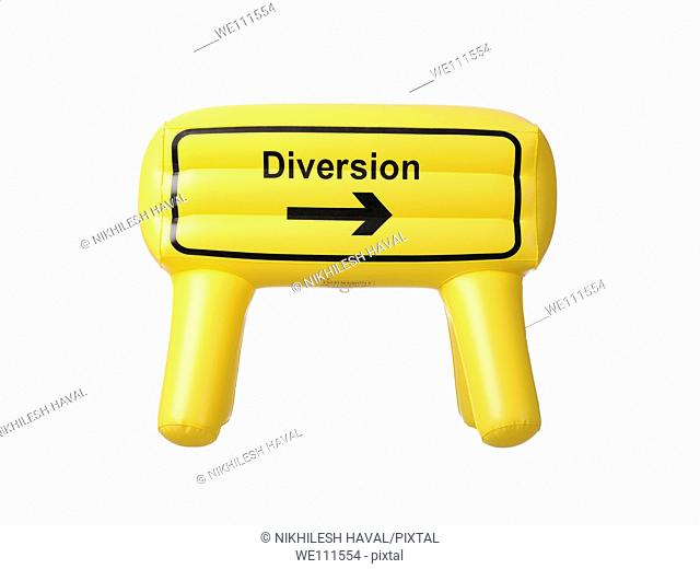 Inflatable diversion sign