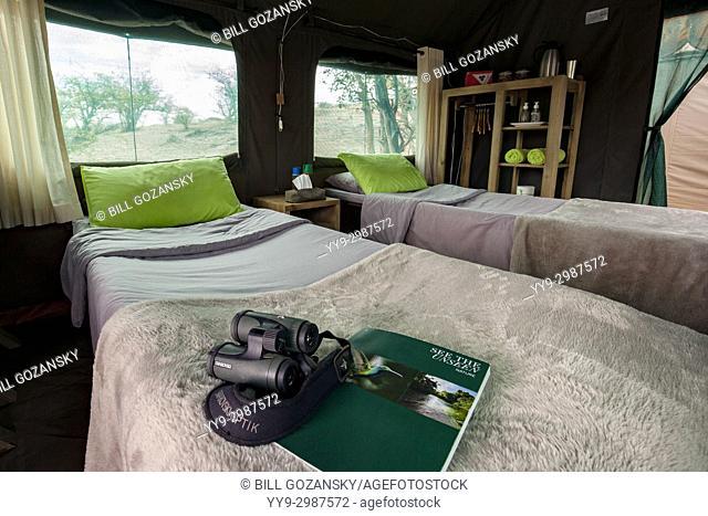 Tent Interior at Huab Under Canvas, Damaraland, Namibia, Africa