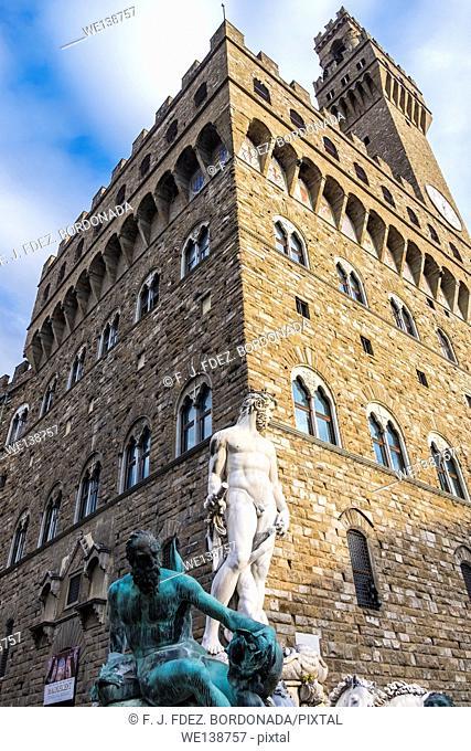 Palazzo Vecchio, Piazza de la Señoria, Firenze, Italy