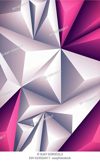 Vector polygon background. Vector file is layered and CMYK color mode. Global colors. Easy editable