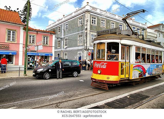 Tram No. 15, Belem, Lisbon, Portugal, Europe