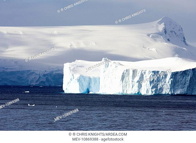Iceberg in the Lemaire channel. Antarctic peninsula. October
