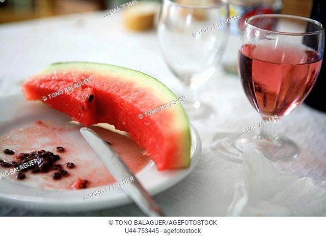 The dessert was watermelon