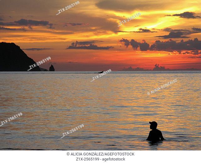 Sunset in Playa Medina, Sucre state, Venezuela