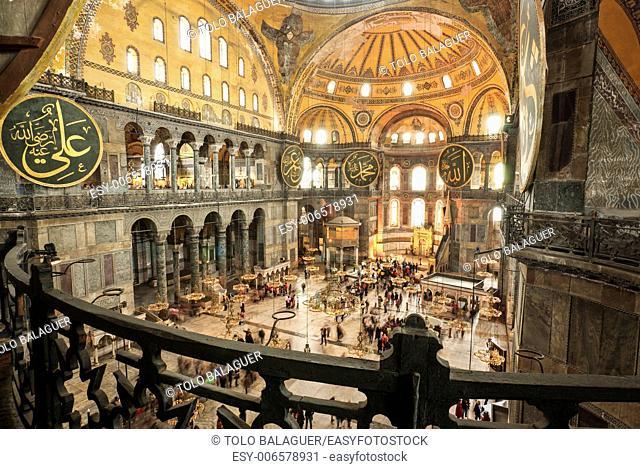Santa Sofia, Church of the Holy Wisdom, VI century . Sultanahmet, Istambul. Turkey. Asia