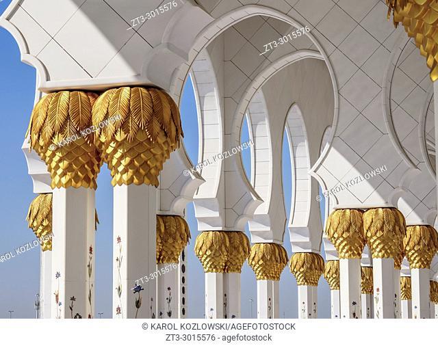 Sheikh Zayed bin Sultan Al Nahyan Grand Mosque, detailed view, Abu Dhabi, United Arab Emirates