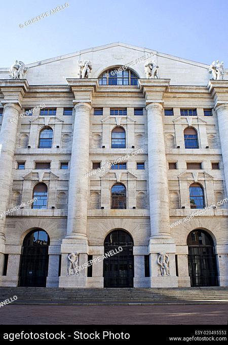 Palazzo della borsa. Exchange building in Milan