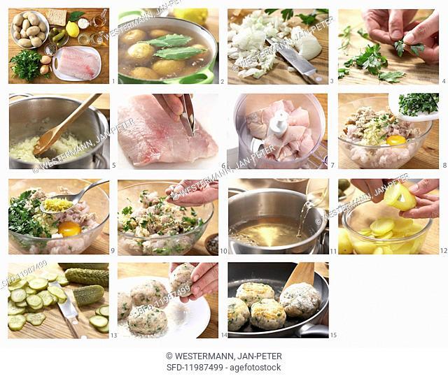 How to make fish patties with potato salad