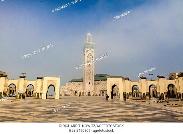 View Of Minaret at Hassan II Mosque, Casablanca, Morocco