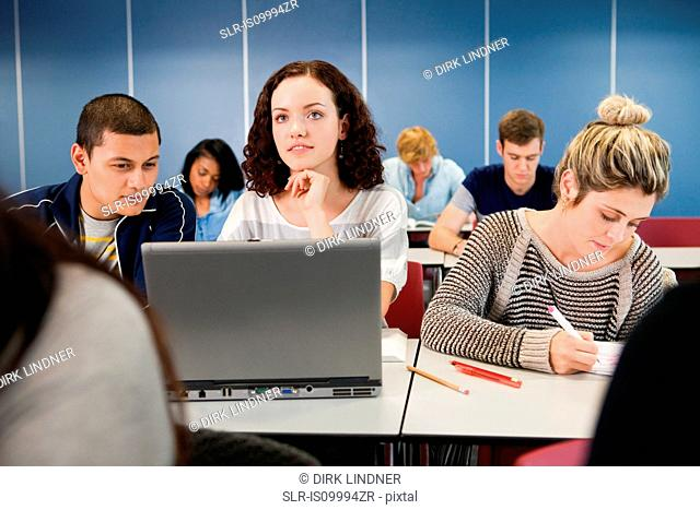 University students in class