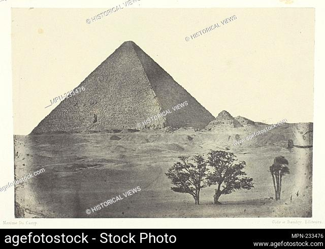 Pyramide de Chéops, Egypte Moyenne - 1849/51, printed 1852 - Aimé Rochas French, 19th century - Artist: Aimé Rochas, Origin: France, Date: 1849–1851