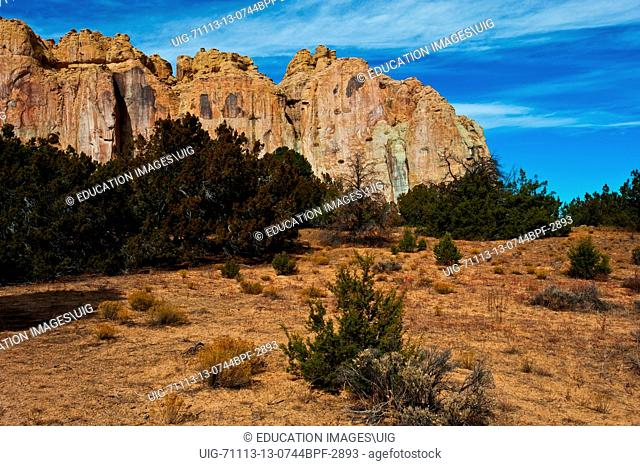 New Mexico, the Scenic Sandstone Bluffs of El Morro National Monument