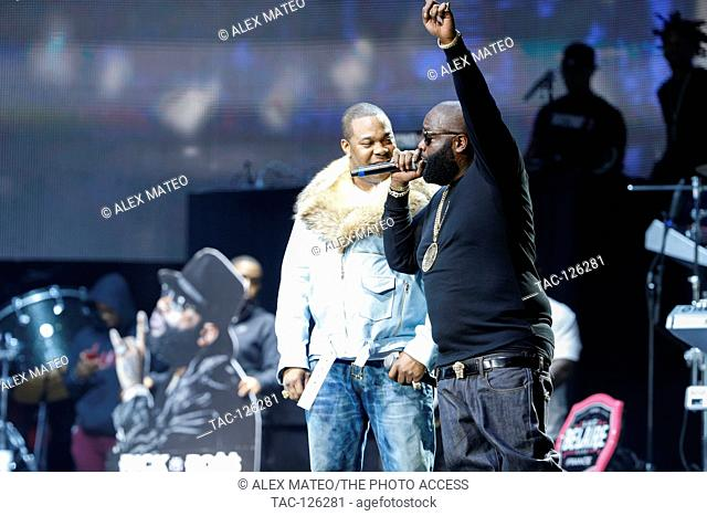 Rick Ross (r) and Busta Rhymes Performs at Hot 97's Hot For The Holidays