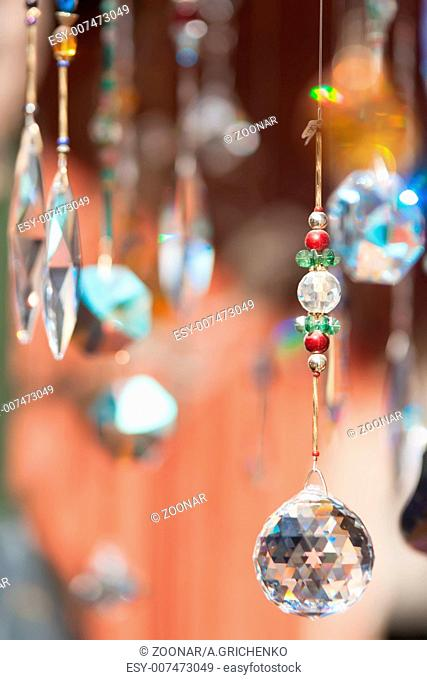 abstract crystals dangling background