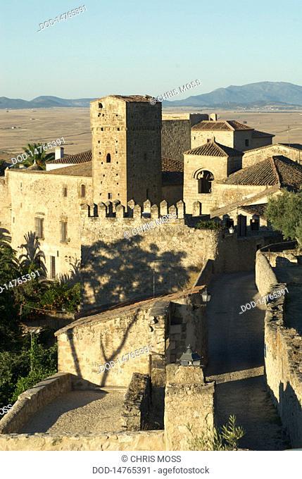 Spain, Trujillo, View of castle