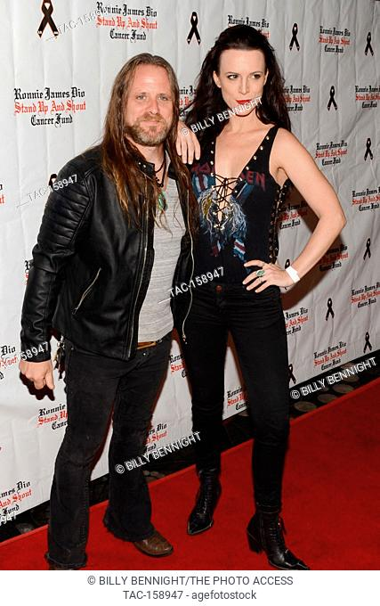 "Chris Latham and Calico Cooper arrives at the 3rd Annual """"Bowl 4 Ronnie"""" Celebrity Bowling Tournament, benefiting the """"Ronnie James Dio Stand Up and Shout..."
