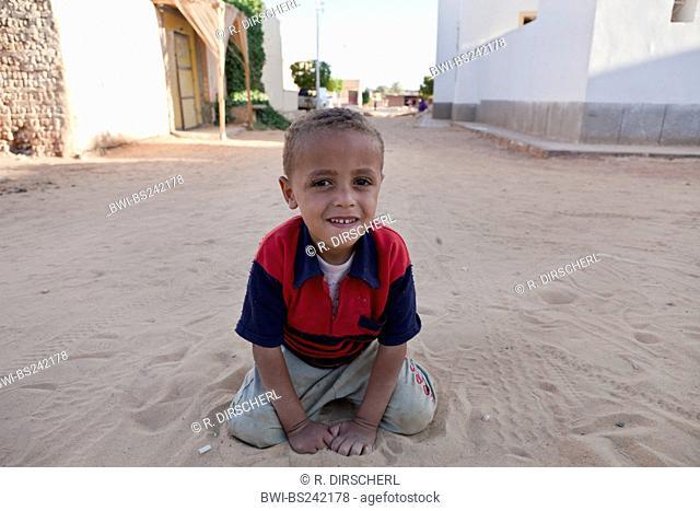 Child at Dakhla Oasis, Libyan Desert, Egypt