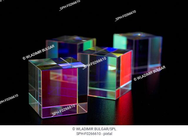 Optical glass cubes