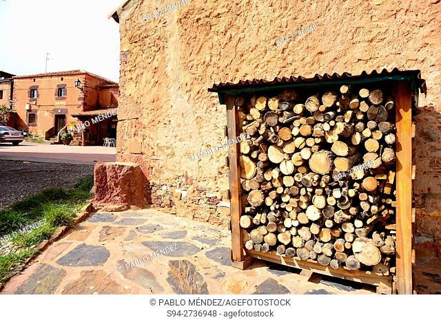 Red Village. Villacorta, Segovia, Spain