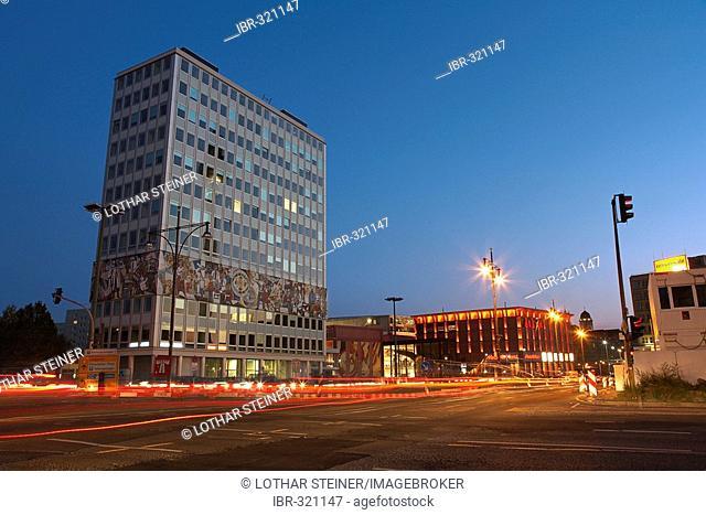Haus des Lehrers (office building) and Alexa (shopping mall) near Alexanderplatz, Berlin, Germany