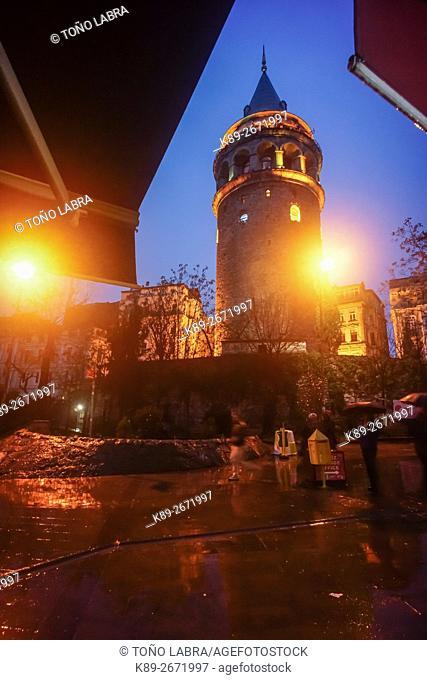 Galata Tower (Galata Kulesi). Istanbul. Turkey