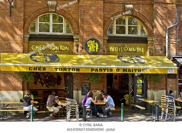 France, Toulouse, cafe, exterior, lifestyle , cityscape