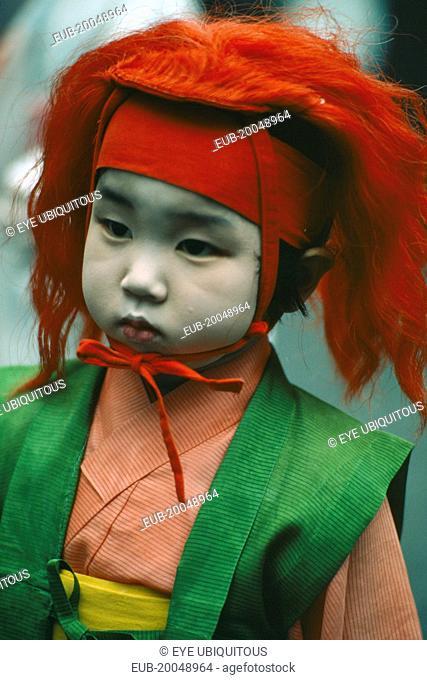 Portrait of child at Gion Matsuri Festival