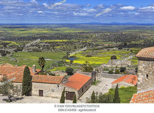 Cityscape from the bell-tower of Santa Maria la Mayor church, Trujillo, Extremadura, Spain