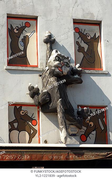 Camden lock - London  Cat Sculpture