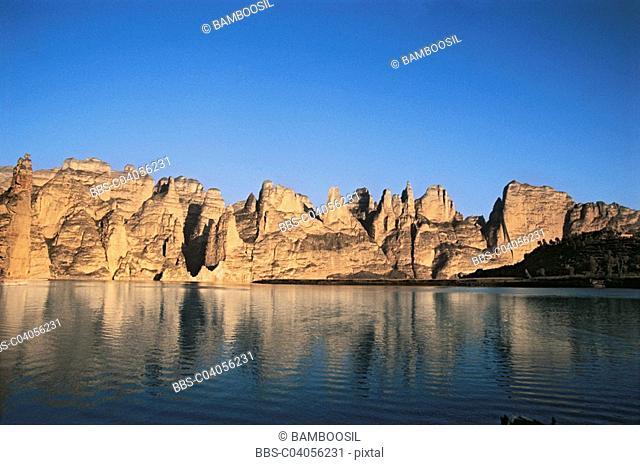 Scenery of Liujia Gorge, Yongjin County, Gansu Province of People's Republic of China