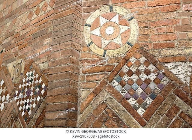 Tile Design on Basilica Church of Santo Stefano; Bologna; Italy