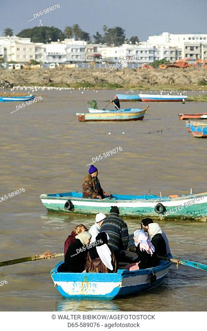 Morocco-Rabat: Oued Bou Regreg River Ferries to Salé