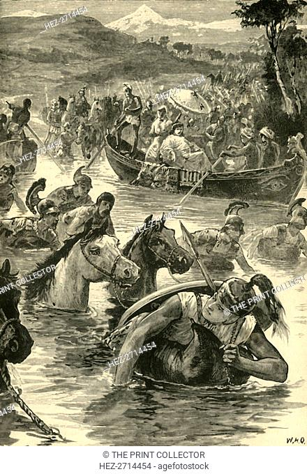 'The Macedonians Crossing the Jaxartes', 1890. Creator: Unknown