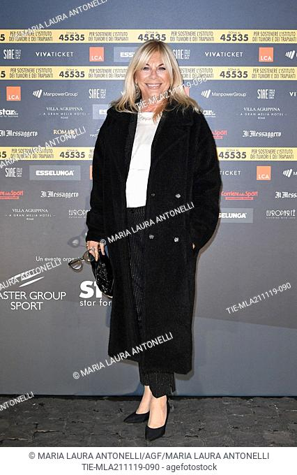 Rita Dalla Chiesa during the charity show ' Una serata di stelle' for the Hospital Bambino Gesu', Paul VI Hall, Vatican City, ITALY-20-11-2019